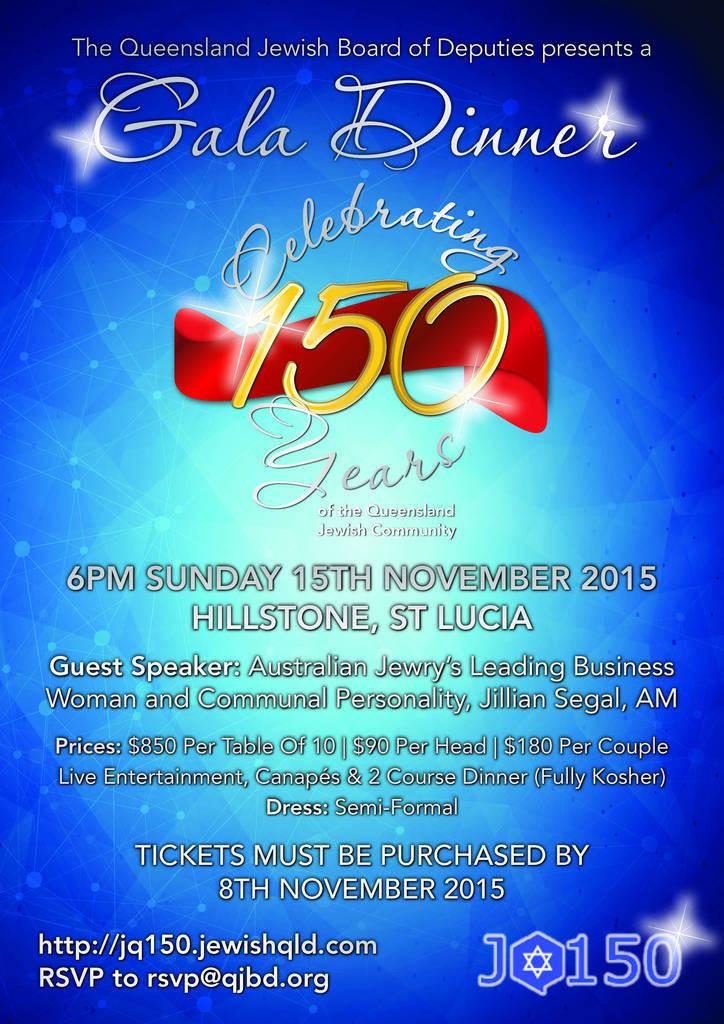 JQ150 Gala Dinner